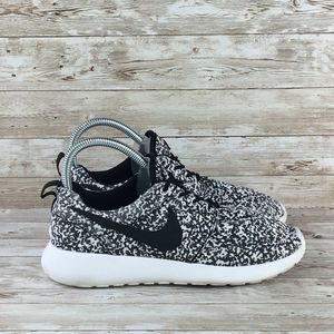 Nike Roshe Run Print Womens 7 Black
